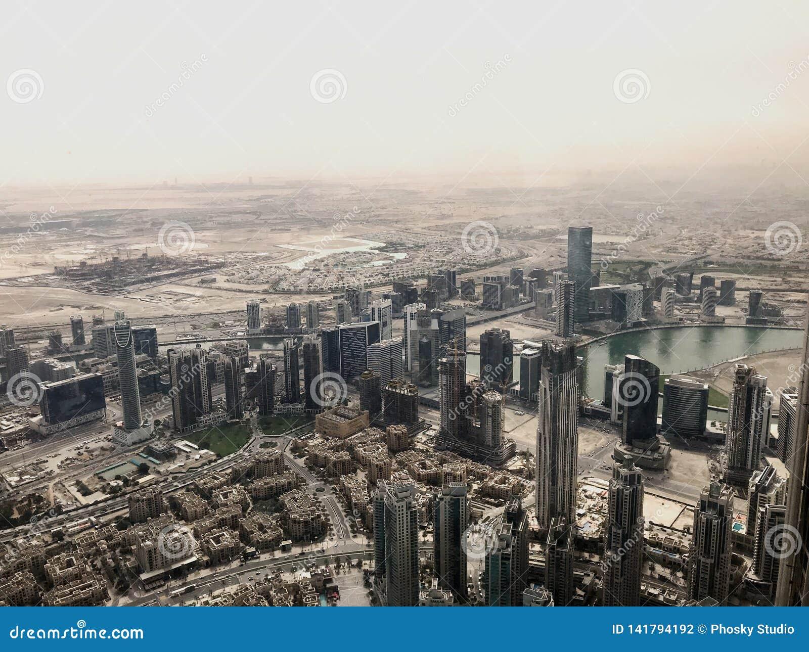 Ansicht der Stadt von über - Dubai