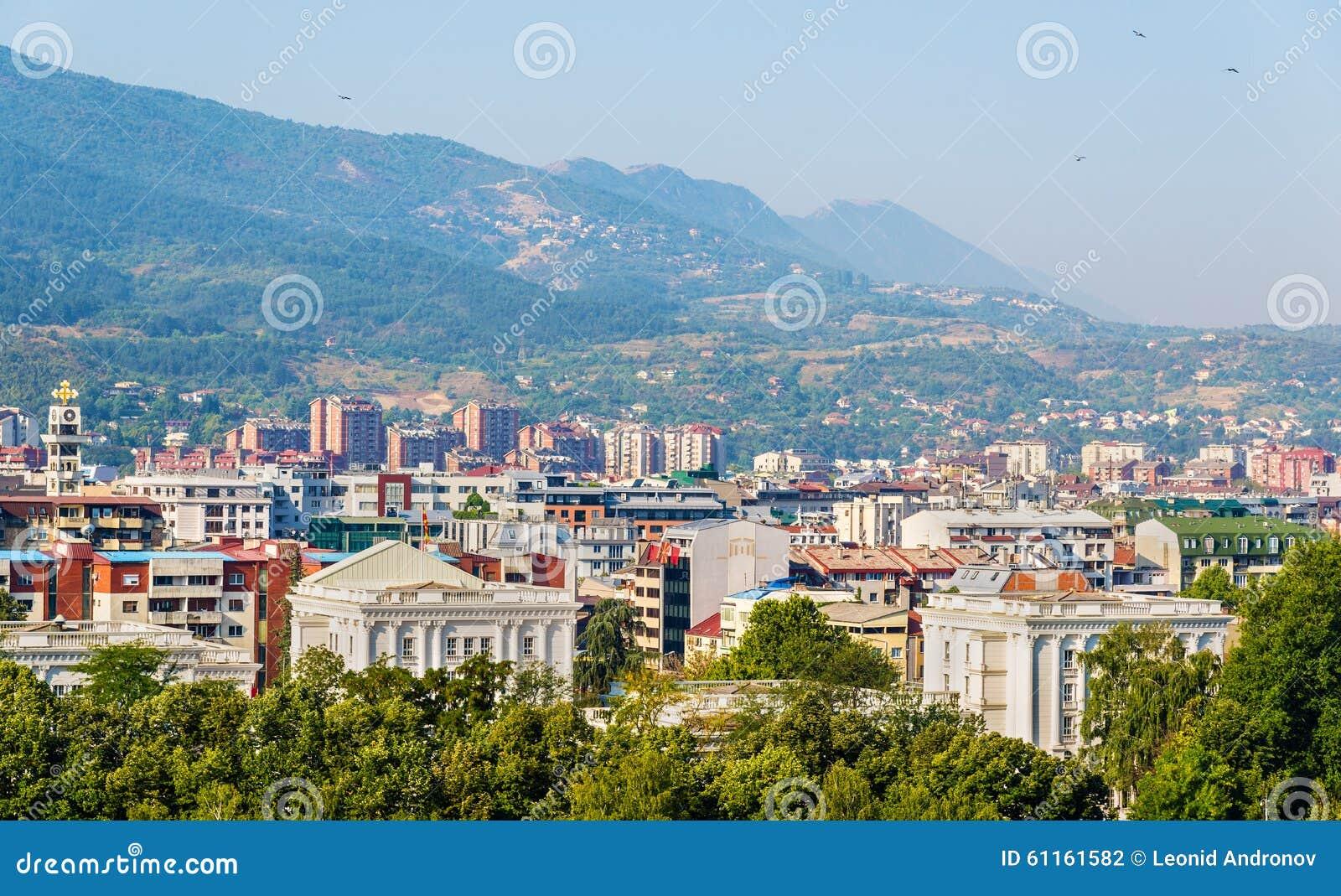 Ansicht der Stadt von Skopje