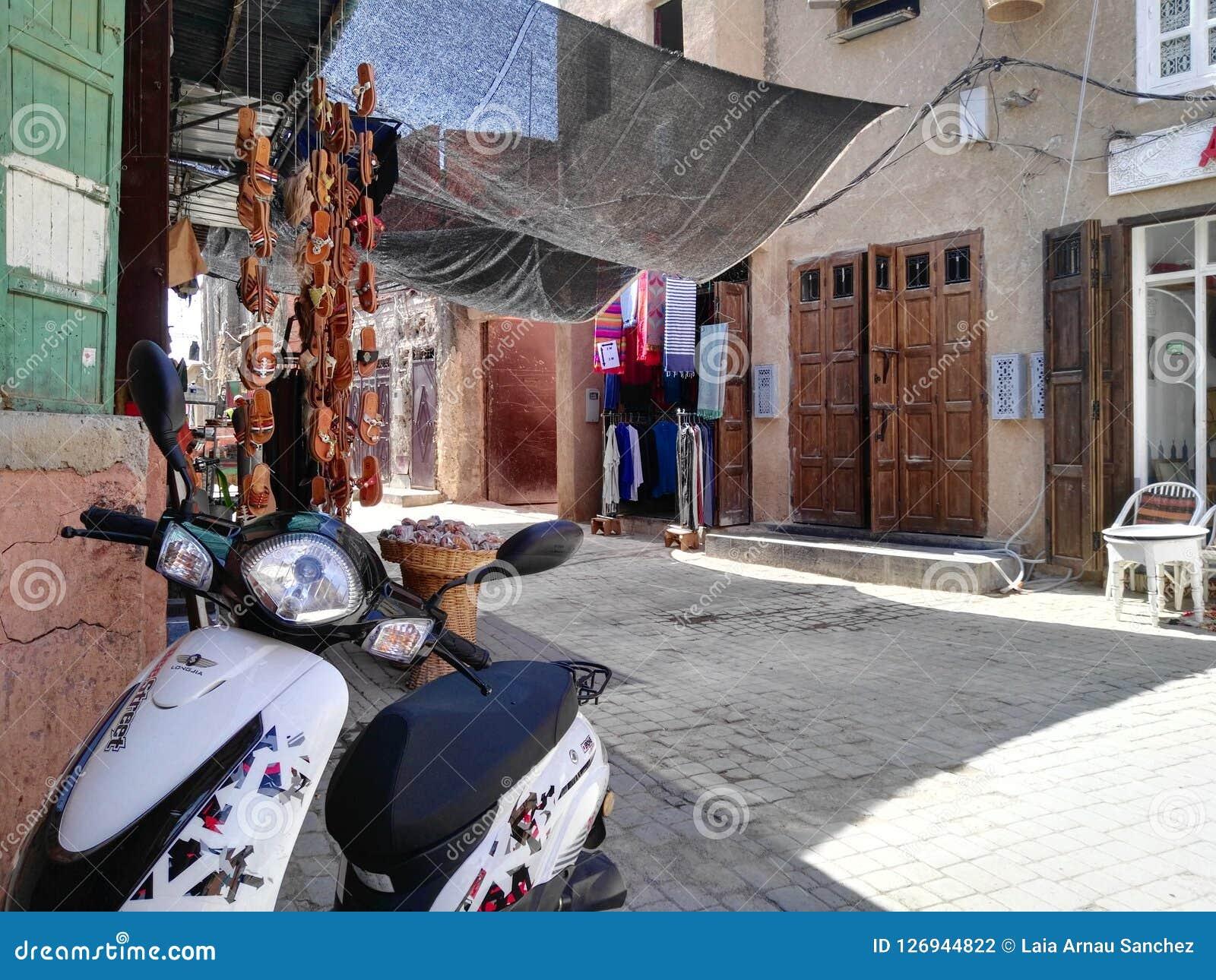 Ansicht der Straßen des Medinas in Marrakesch