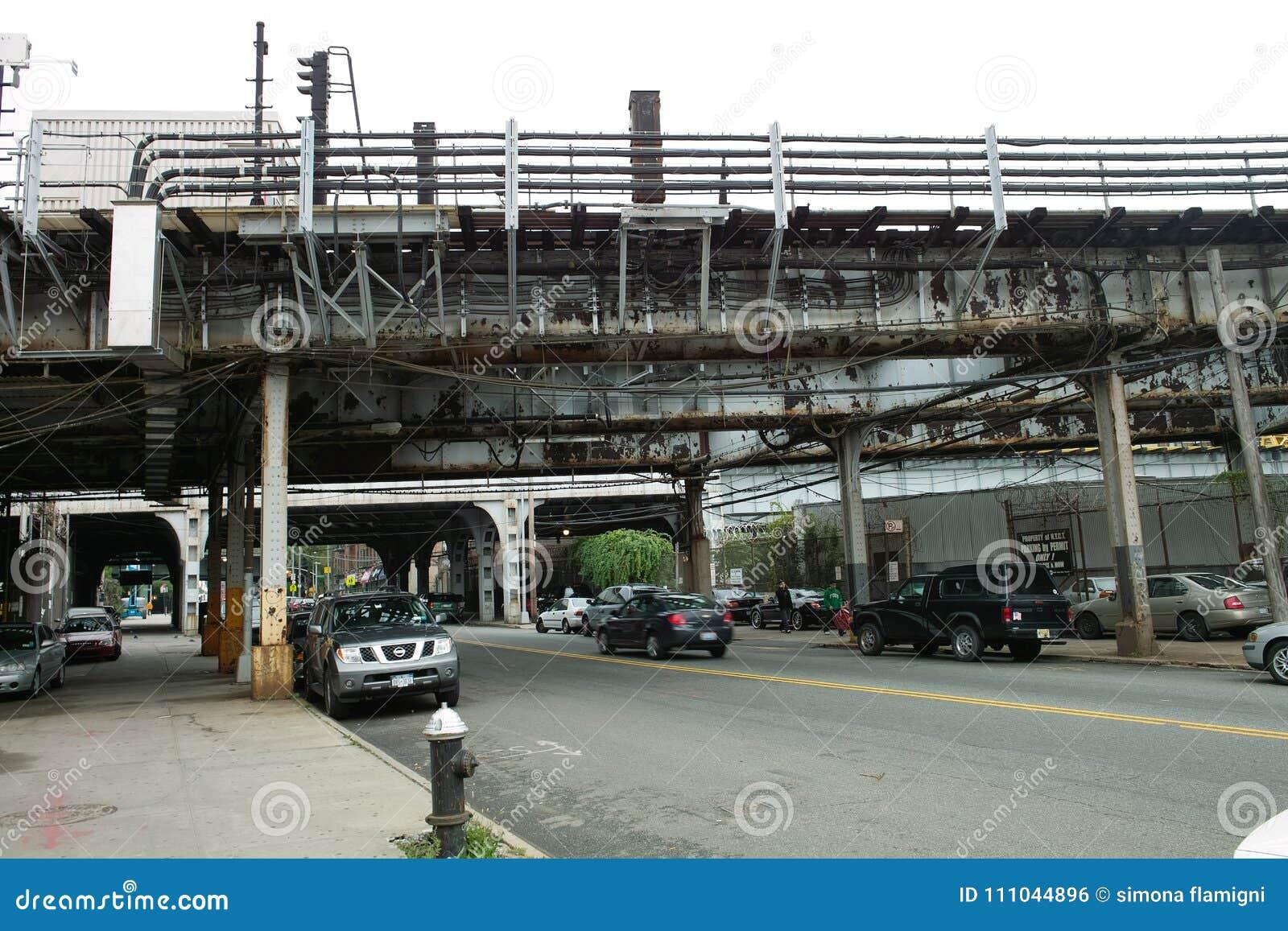Ansicht der Straßen im Bronx