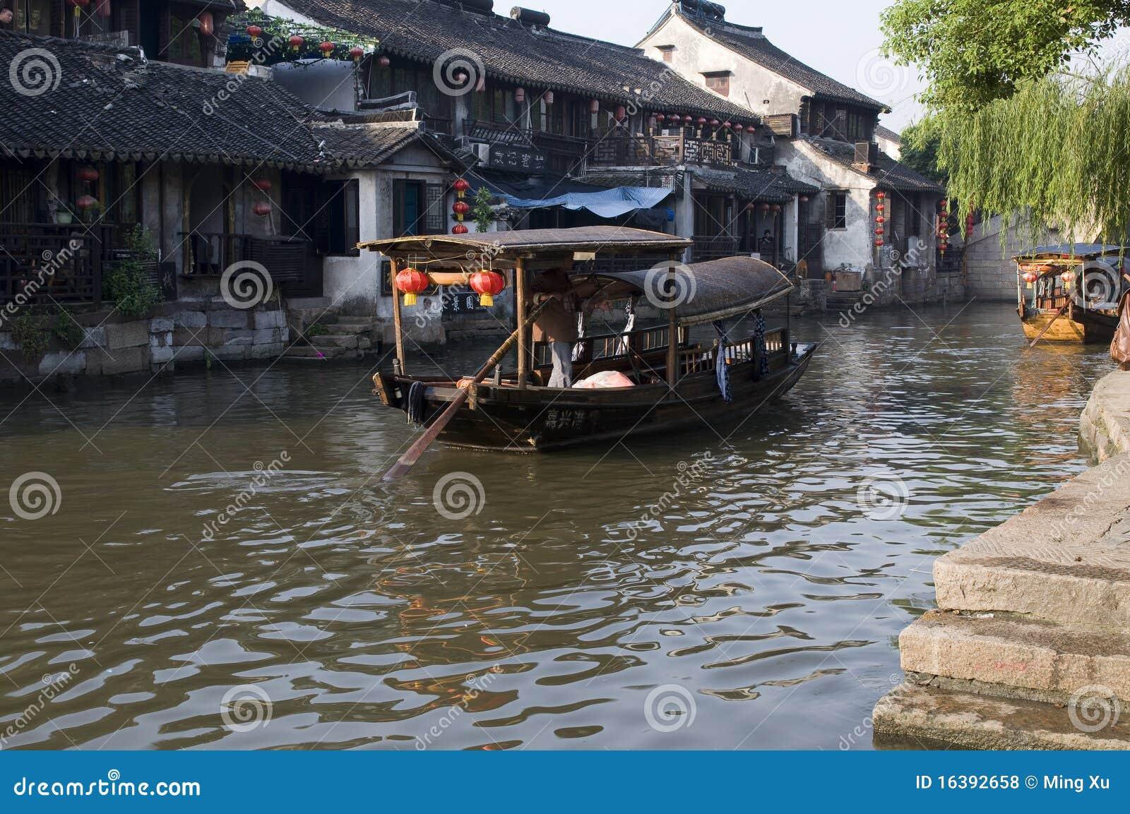 Ansicht an der Wasser Stadt-xitang