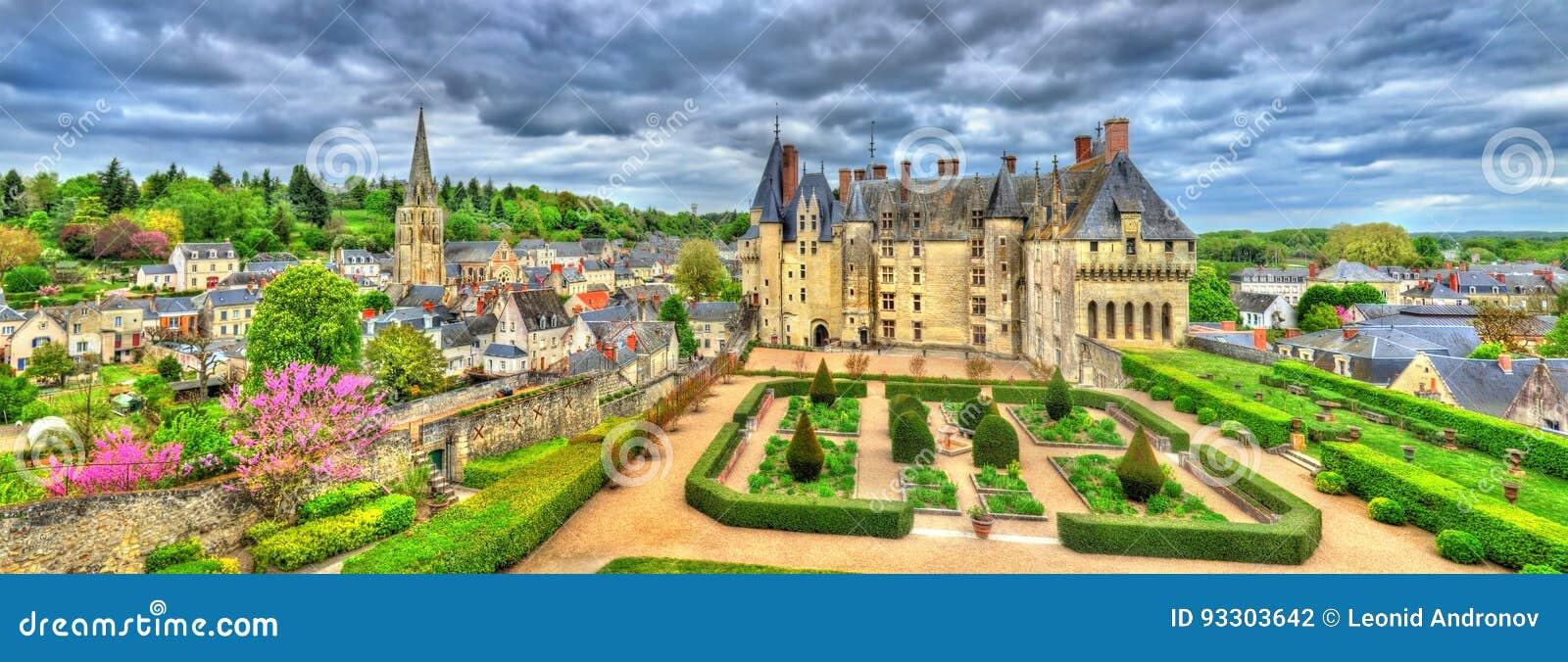 Ansicht des Chateaus de Langeais, ein Schloss im Loire Valley, Frankreich