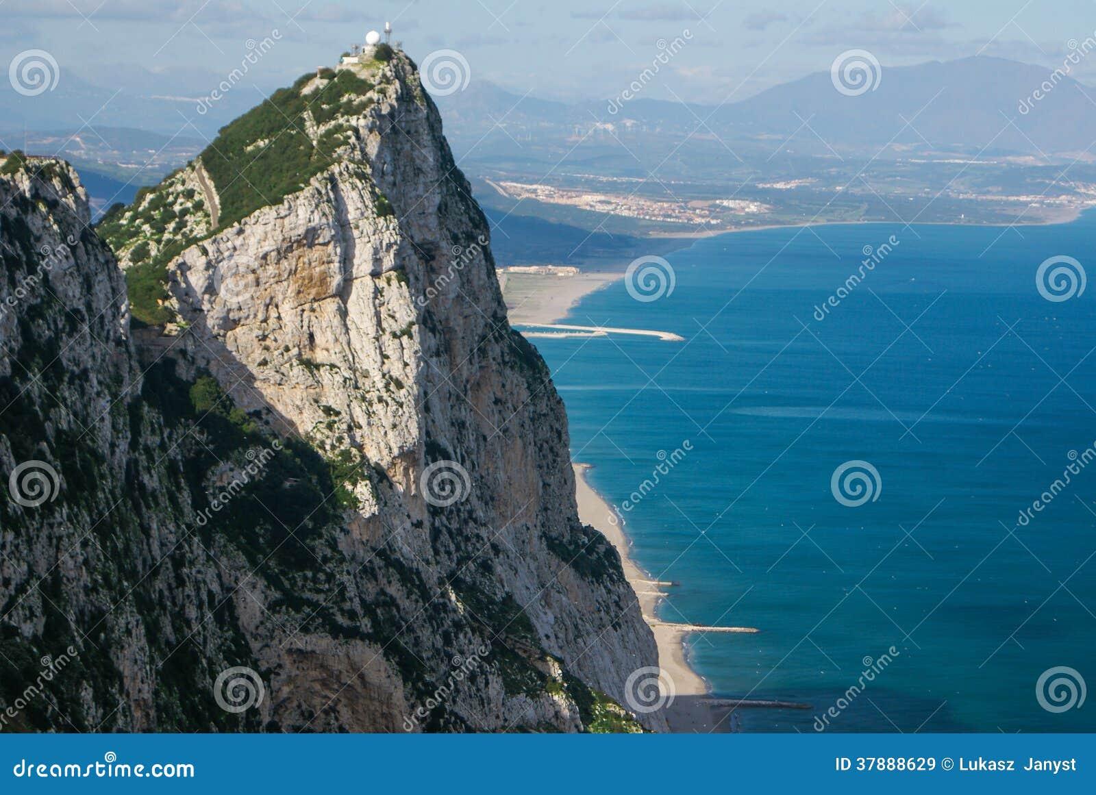 Ansicht des Gibraltar-Felsens
