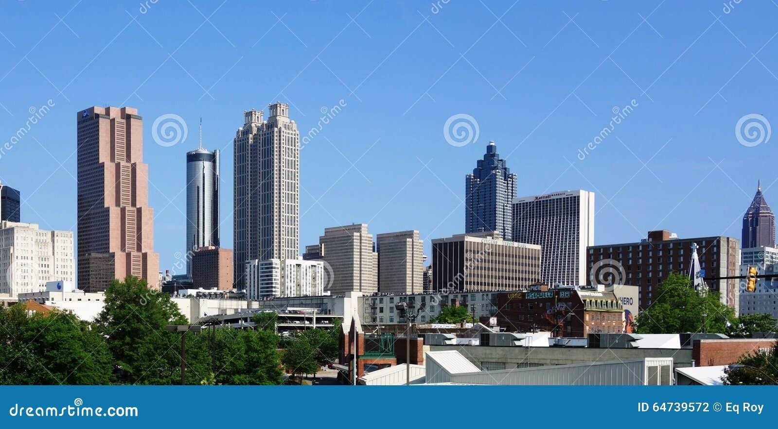 Ansicht des im Stadtzentrum gelegenen Atlantas, USA Skyline