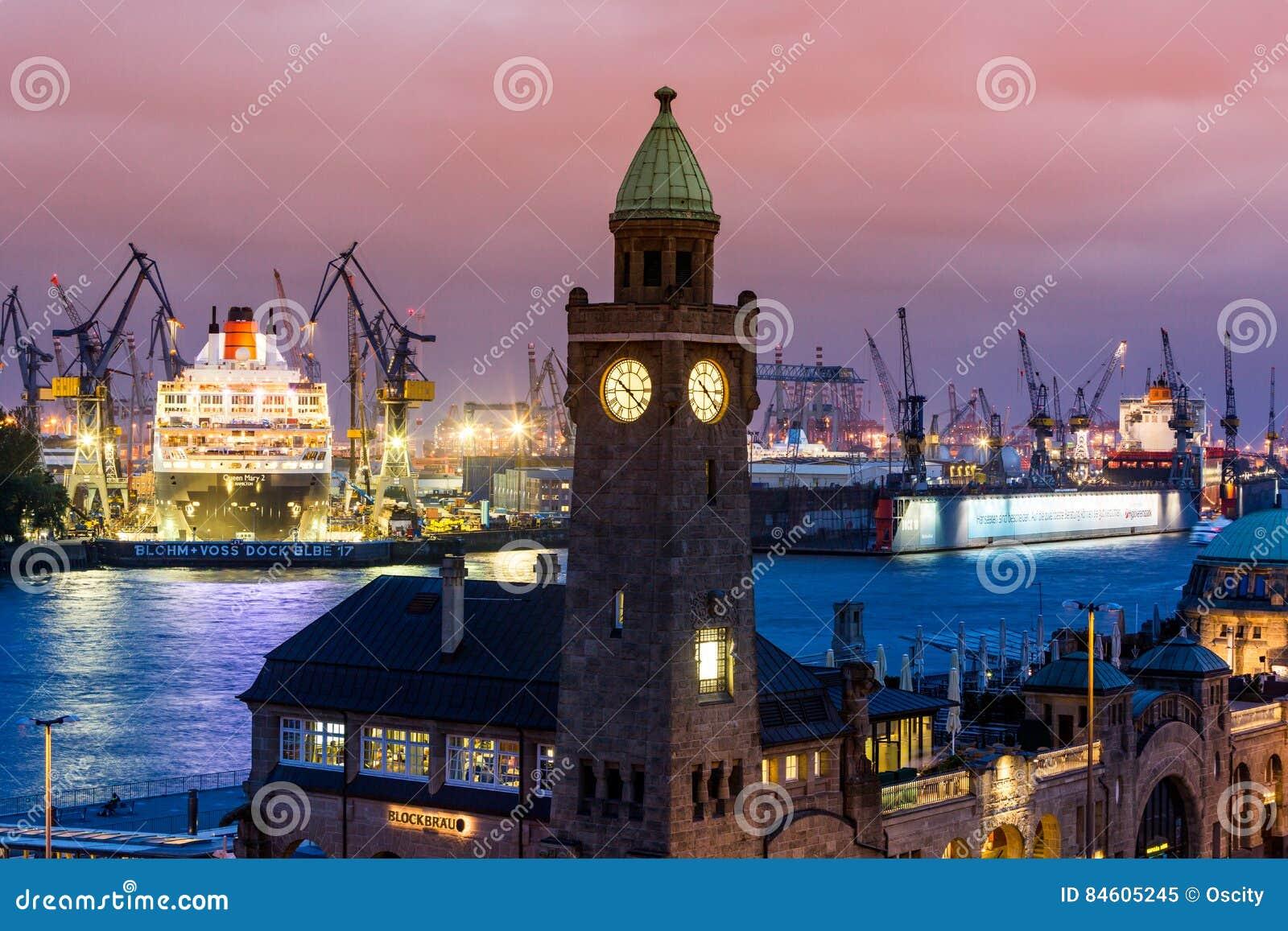 Ansicht des St. Pauli Piers eine von Hamburgs Majors-Tourist attrac