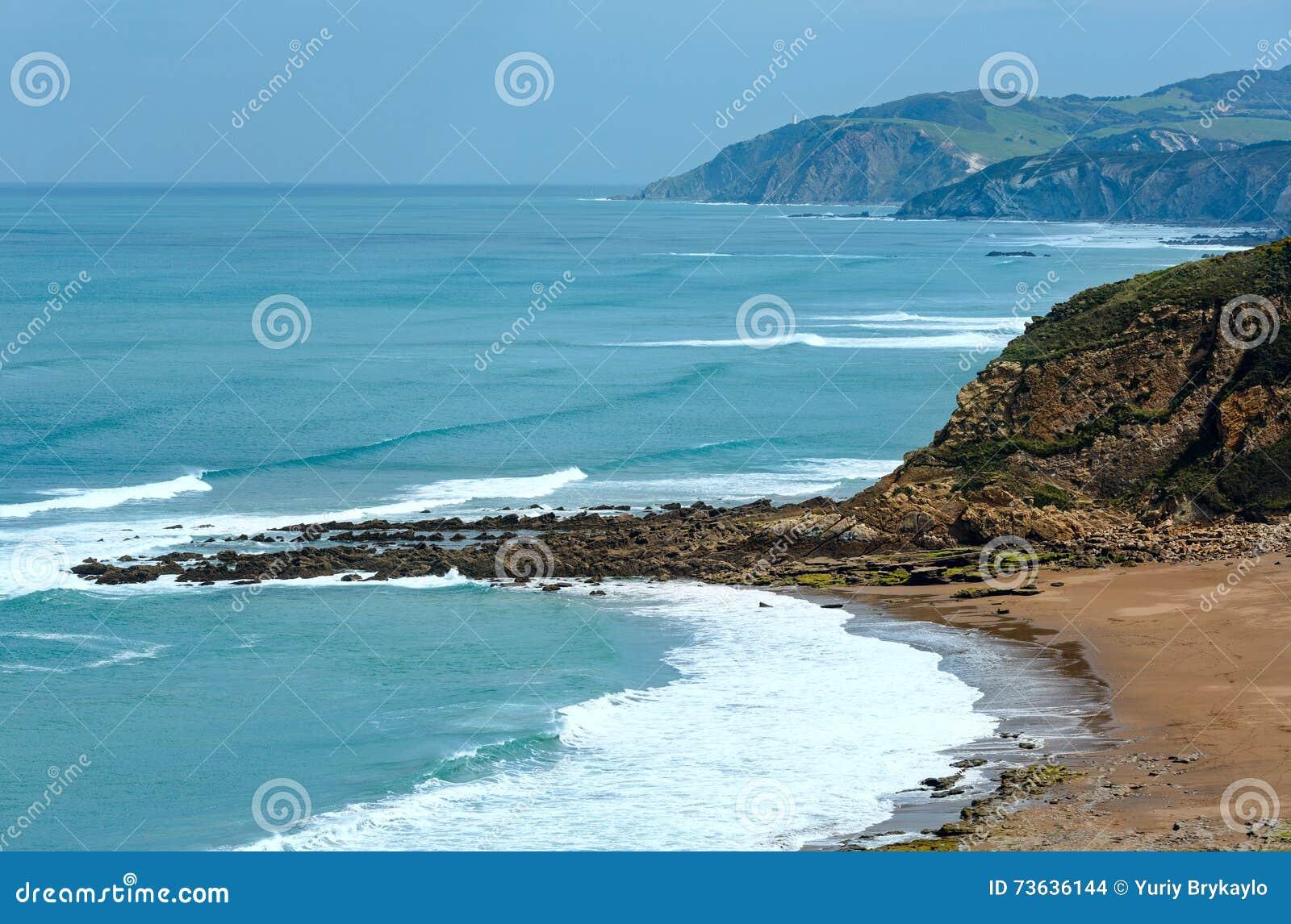 Ansicht des Strandes Azkorri oder Gorrondatxe