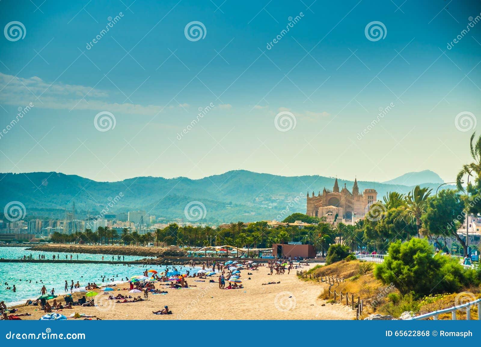 Ansicht des Strandes von Palma de Mallorca