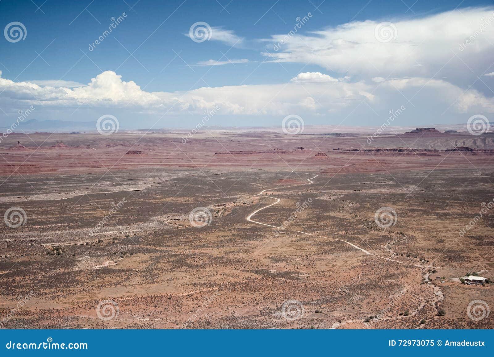 Ansicht des Tales der Götter von Punkt Moki Dugway Muley übersehen Utah USA