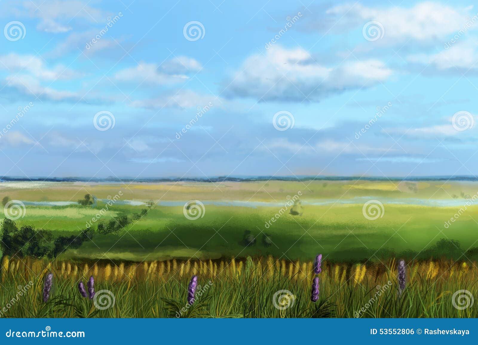 Ansicht des Tales vom Hügel