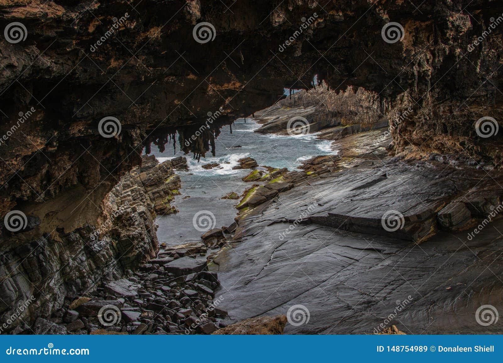 Ansicht durch Admir?le w?lben sich bei Cape du Couedic auf K?nguru-Insel