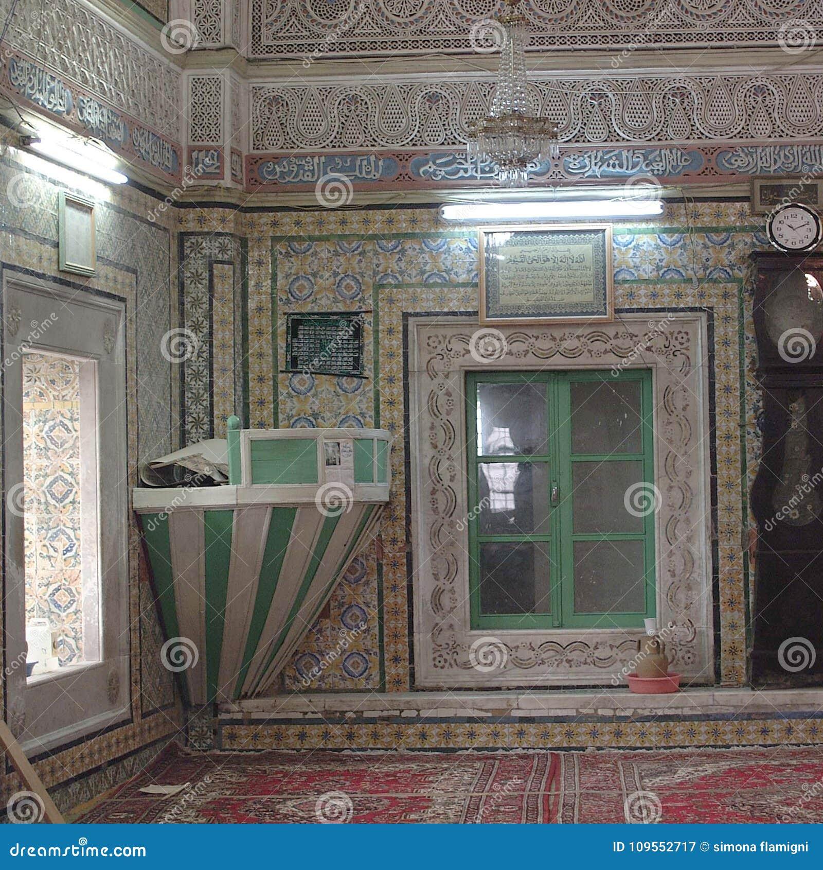 Ansicht eines Moscheeninnenraums