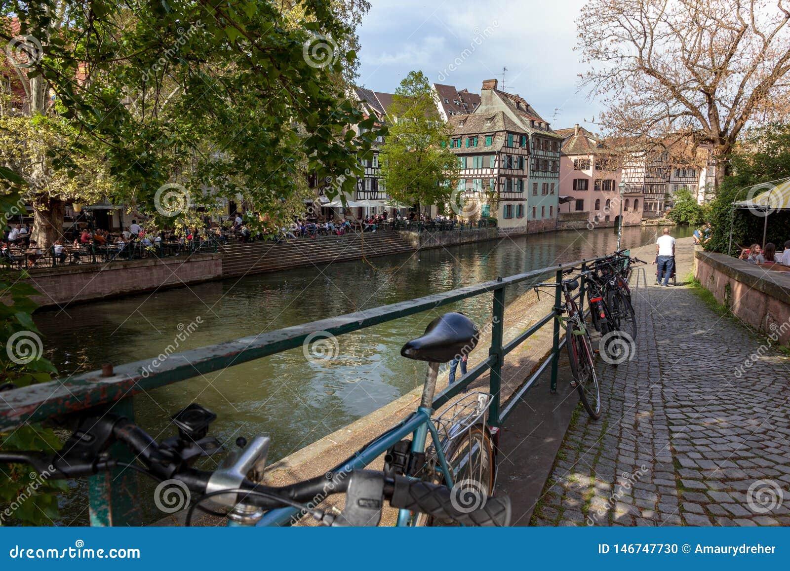Ansicht La zierlichen Frankreich-Bezirkes in Straßburg