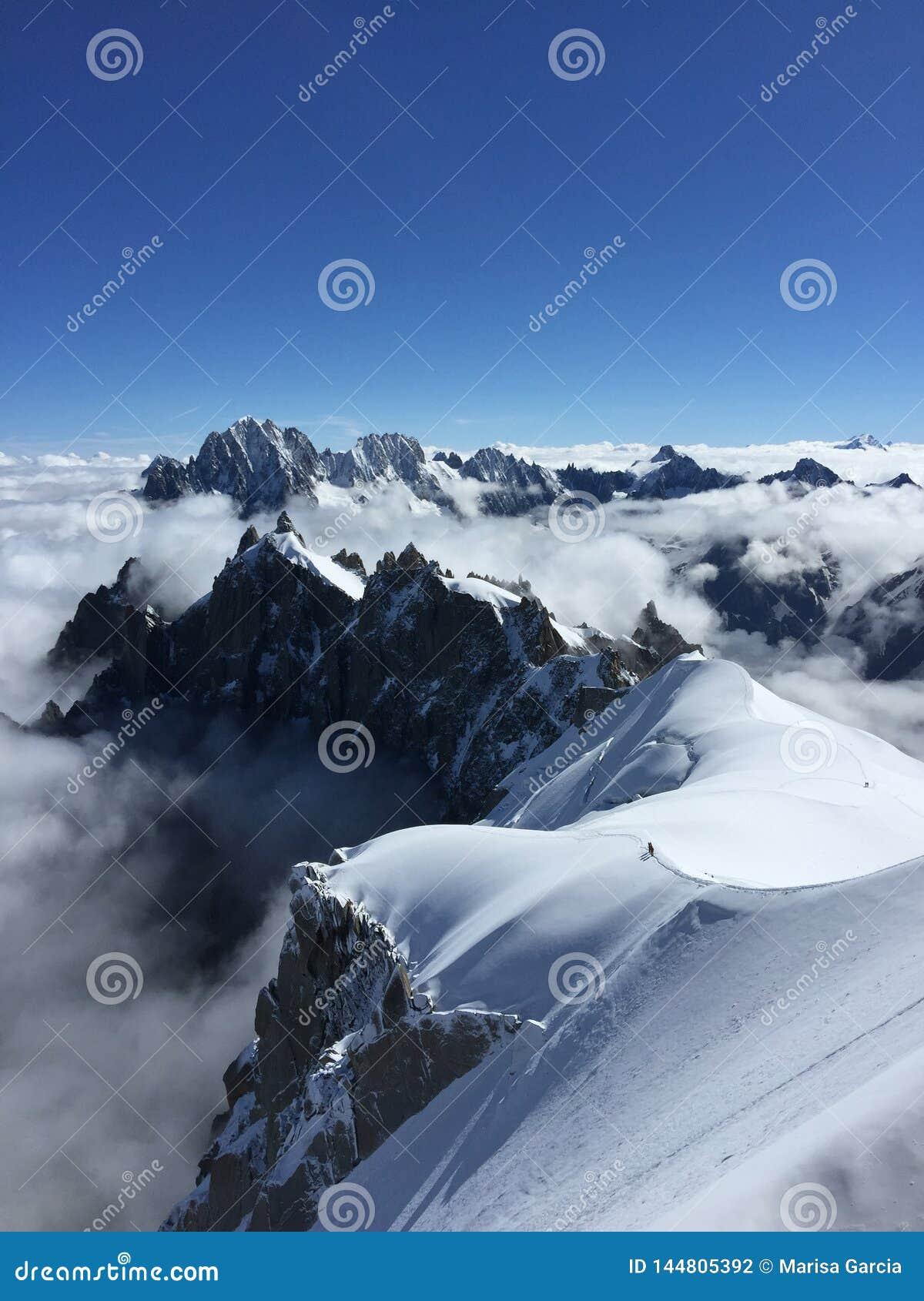 Ansicht vom Aiguille DU Midi
