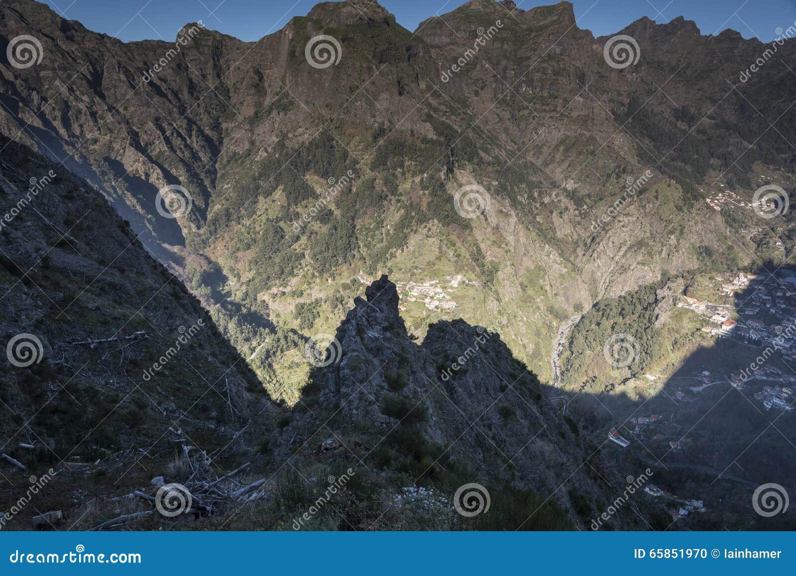 Ansicht vom Eira tun Serrado Madeira Portugal