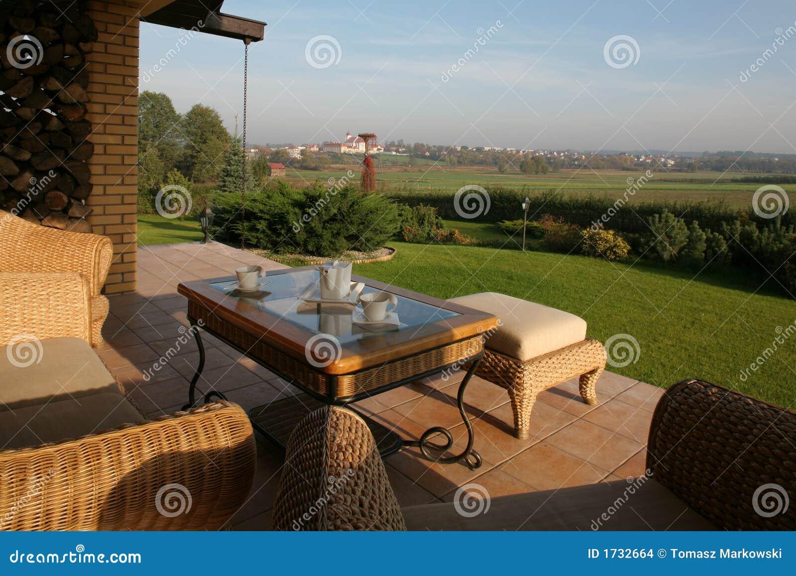 Ansicht vom Hinterhof-Patio