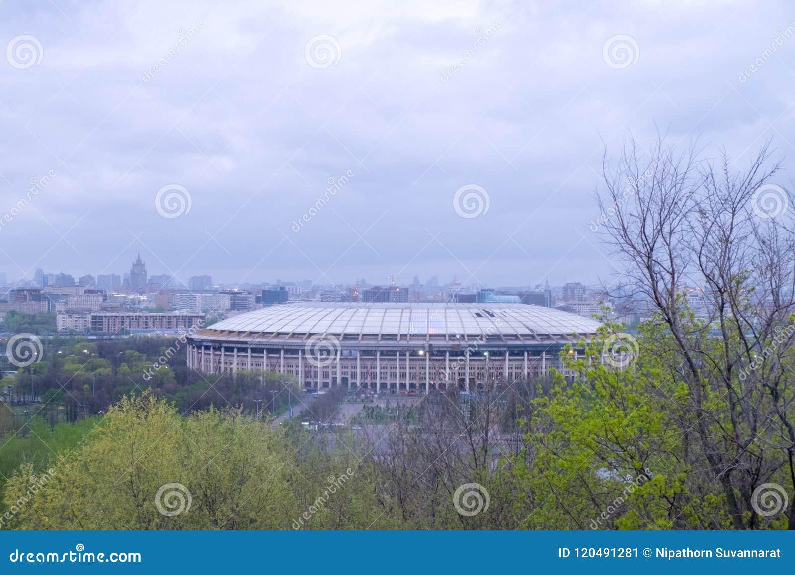 Ansicht vom Olympiastadion Luzhniki in Moskau, Russland