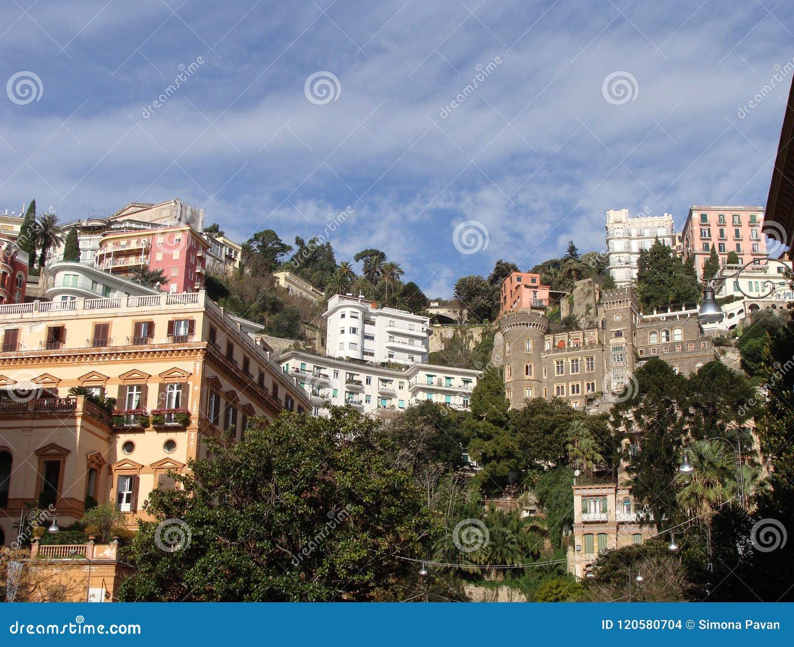 Ansicht von Chiaia-Bezirk in Neapel