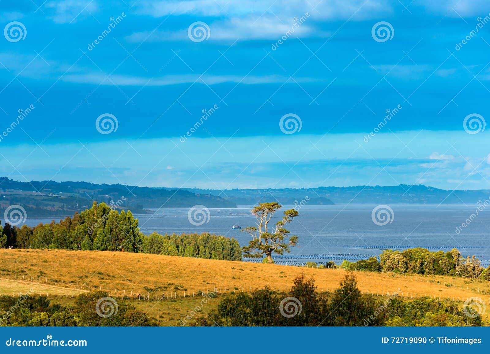 Ansicht von Chiloe-Insel