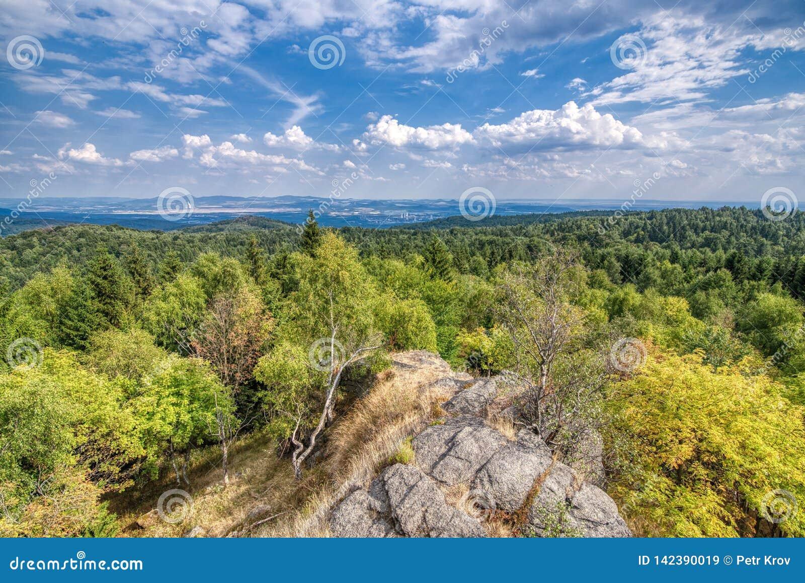 Ansicht von den Erz-Bergen, Tschechische Republik