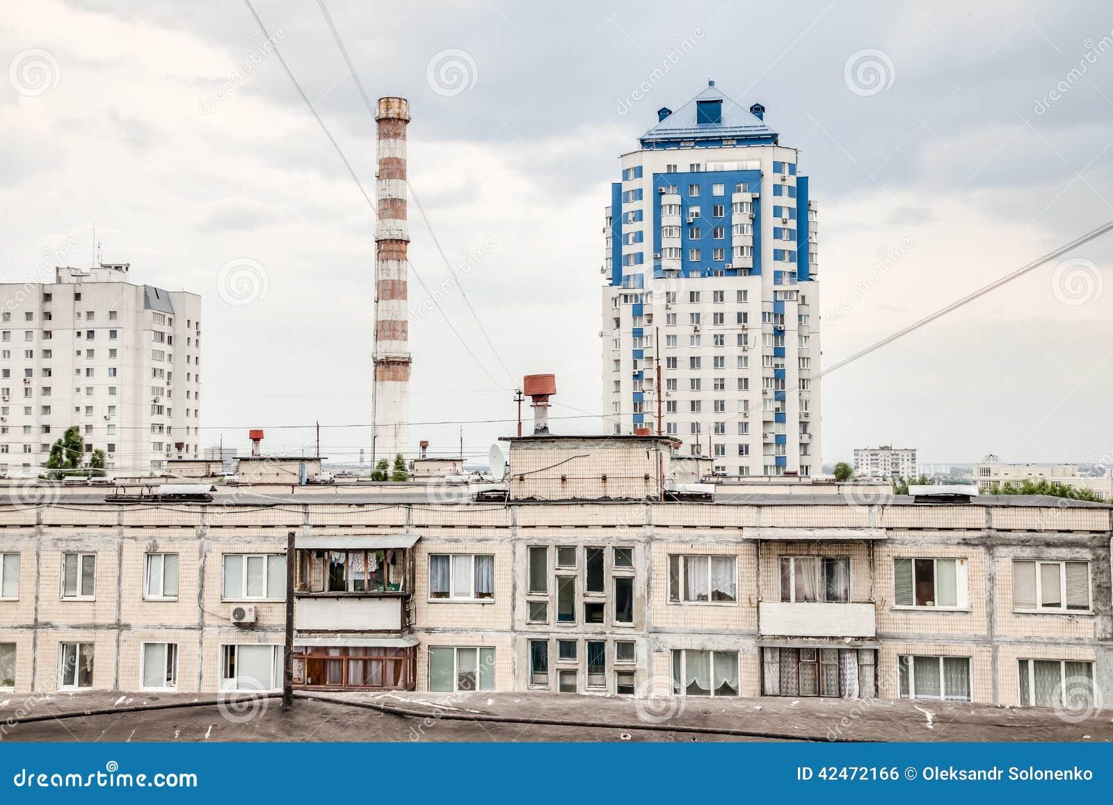 Ansicht von der Dachspitze der Wohngemeinschaft