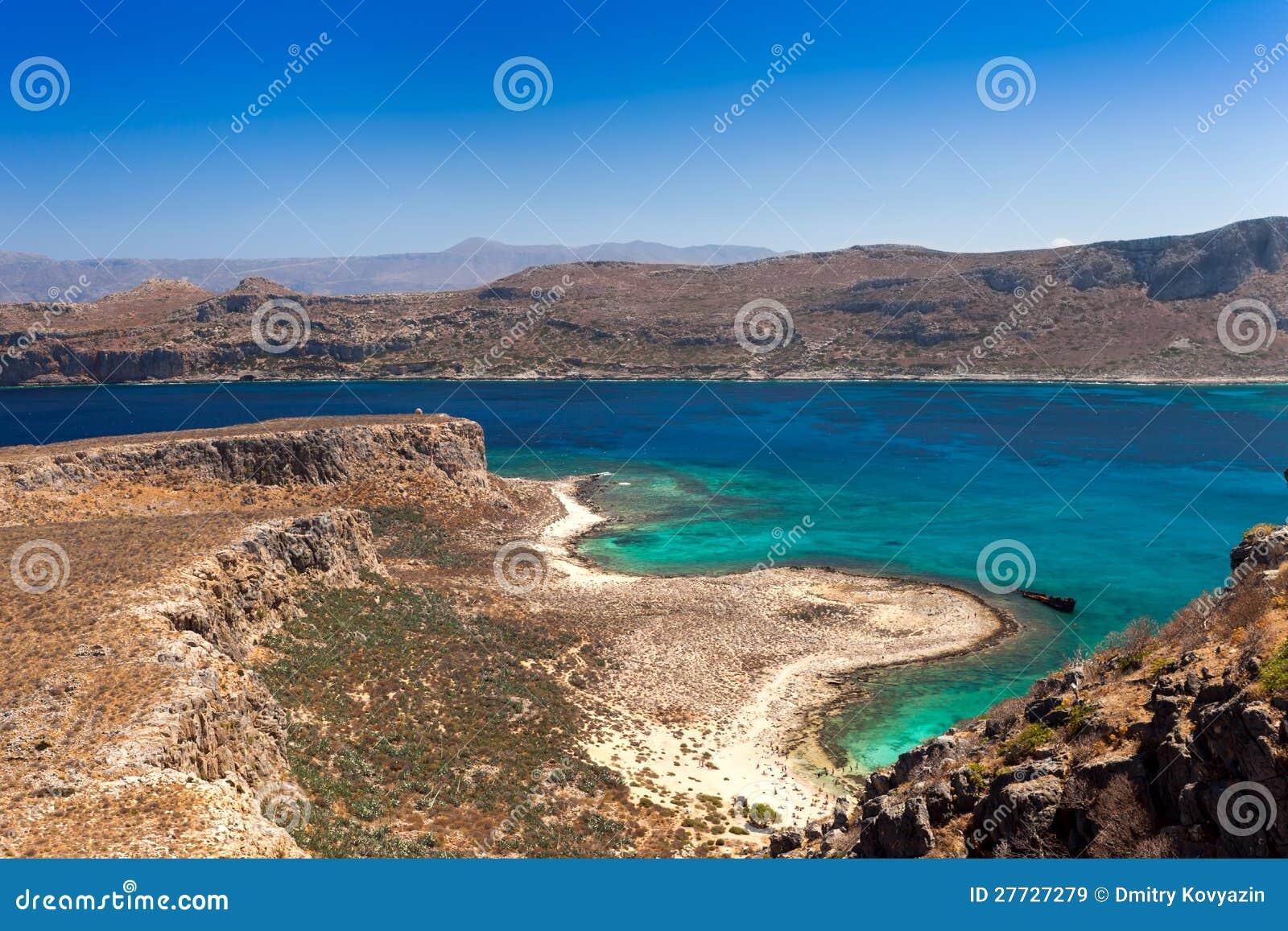 Ansicht von der Insel von Gramvousa