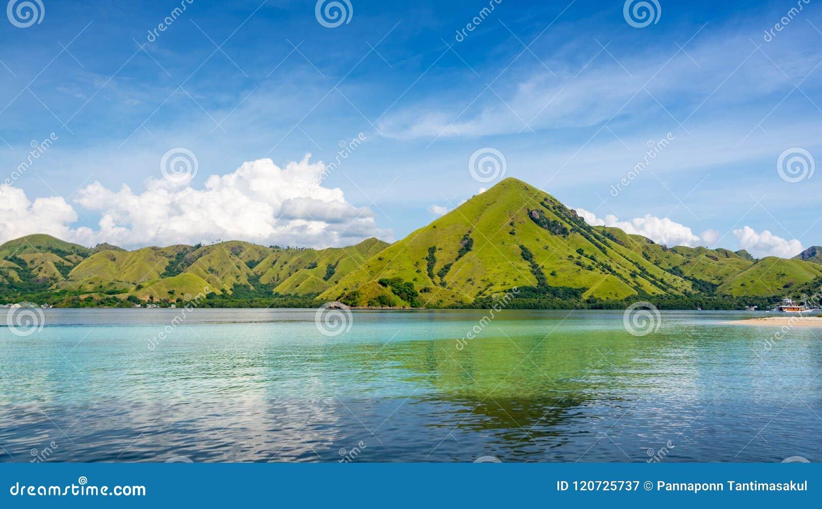 Ansicht von der Küste von Kelor-Insel