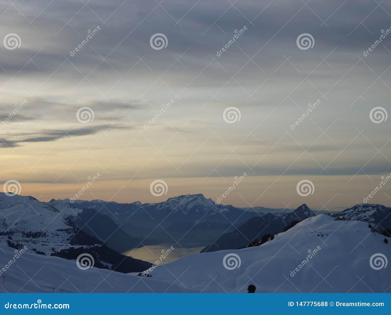 Ansicht von der Oberseite des Berges