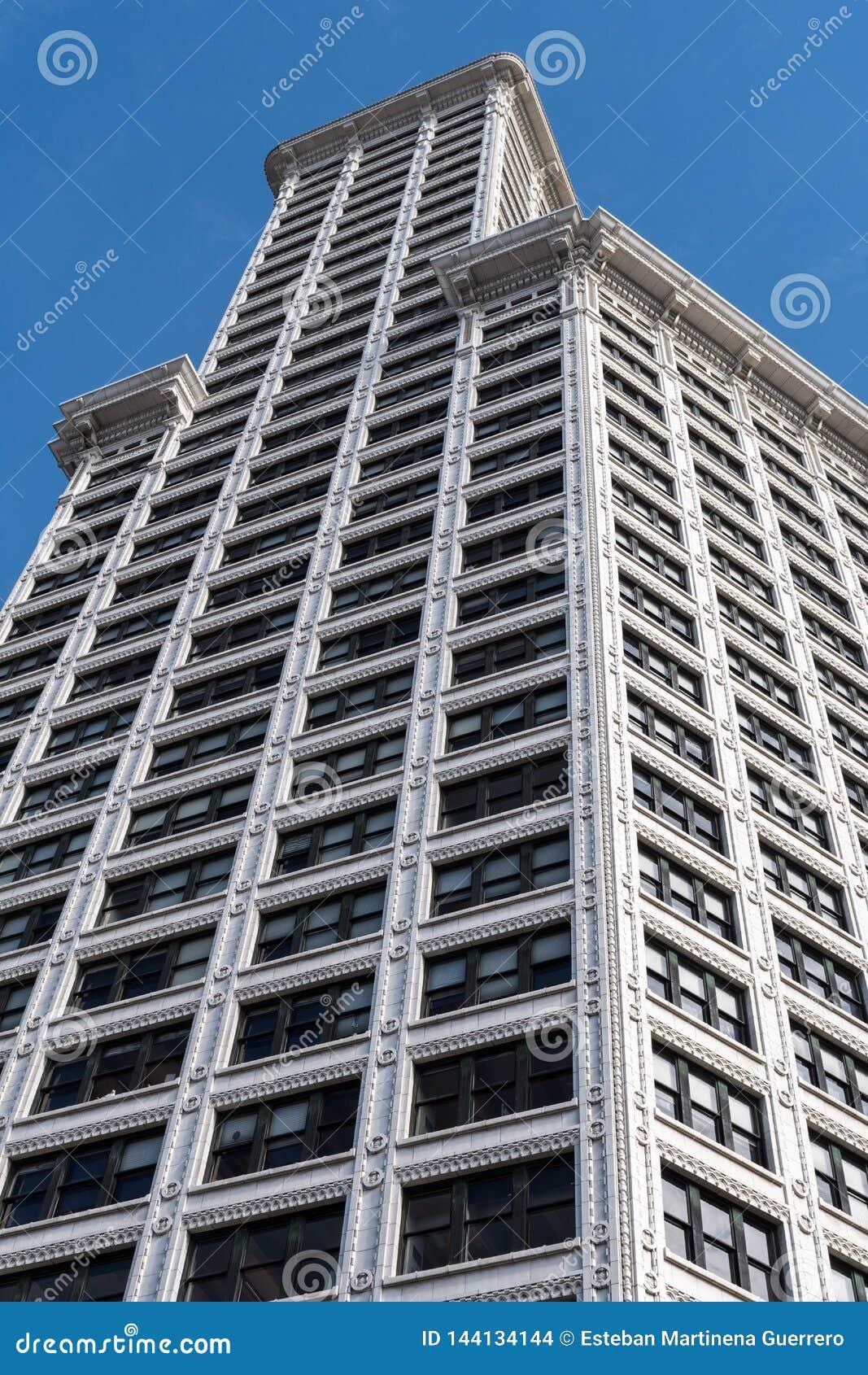 Ansicht von der Straße von Smith Tower in Seattle, Washington, USA