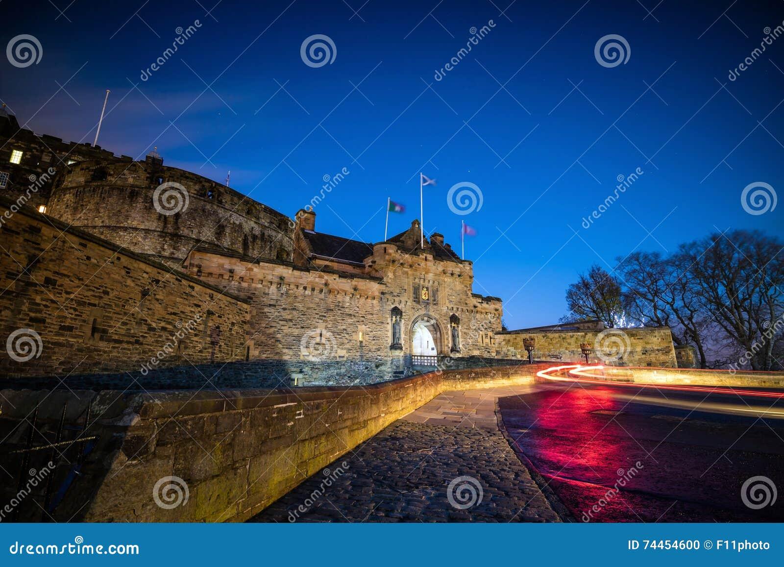 Ansicht von Edinburgh-Schloss in Schottland