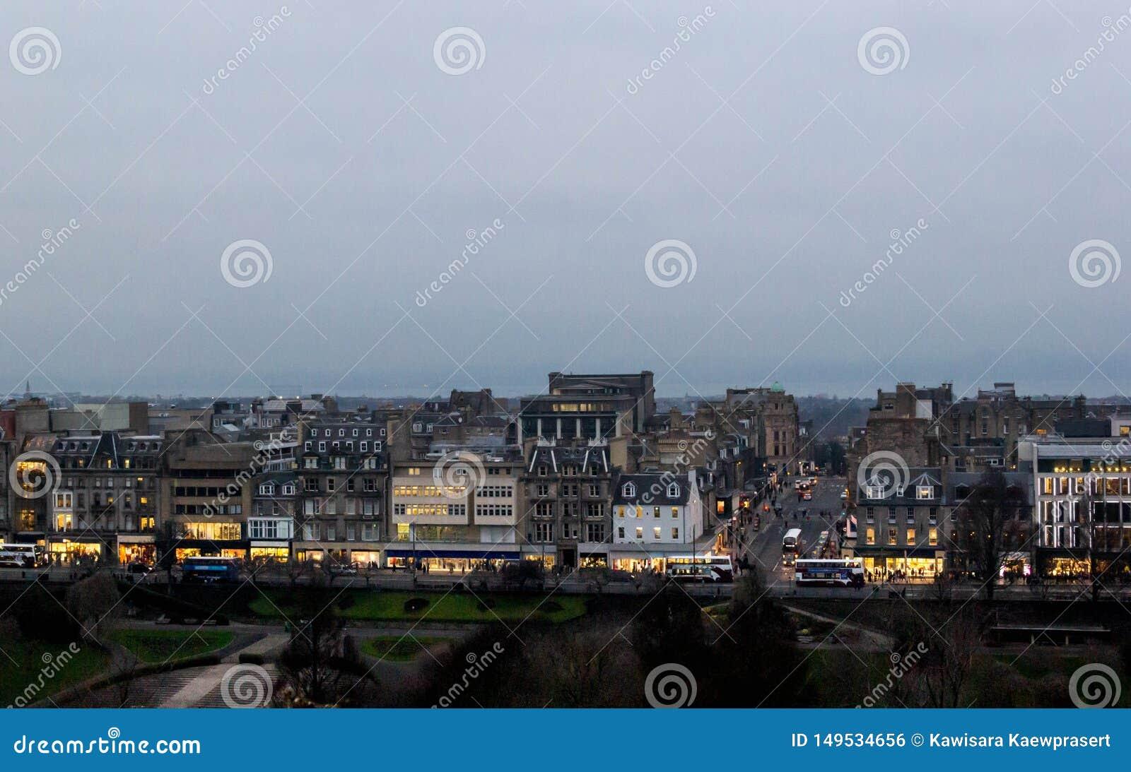Ansicht von Edinburgh-Stadtbild