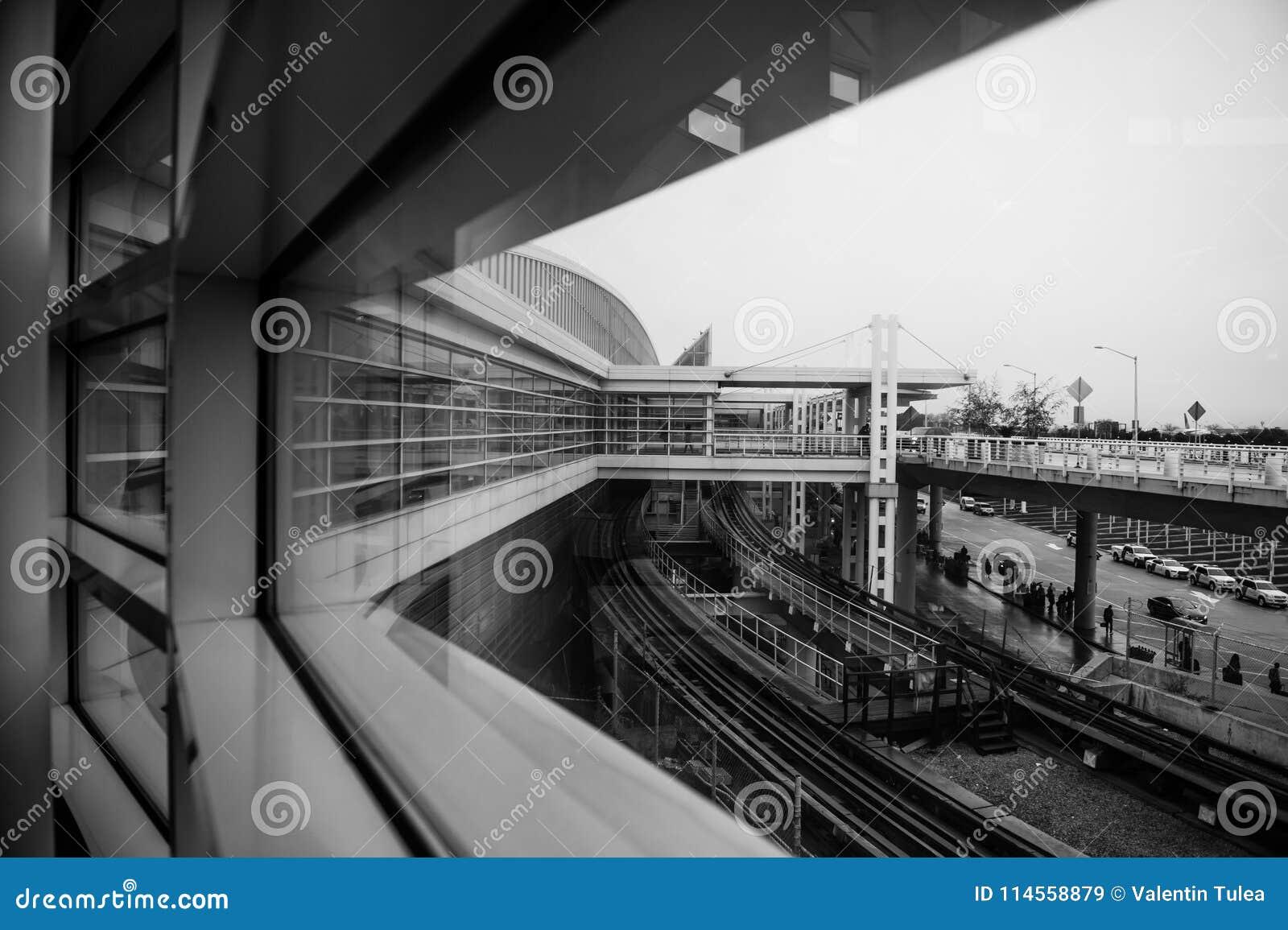 Ansicht von einem Fenster in Hase-Flughafen Chicagos O '