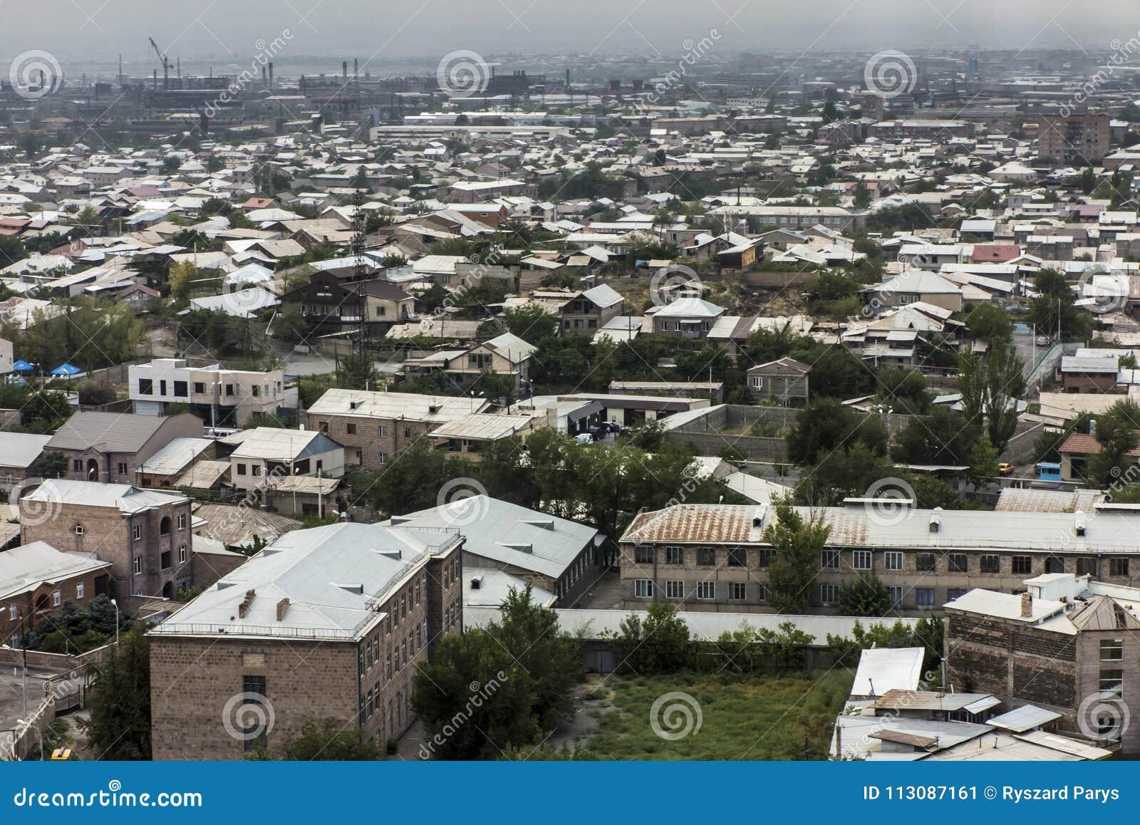 Ansicht Von Eriwan Die Hauptstadt Von Armenien Stockbild Bild Von Hauptstadt Ansicht 113087161