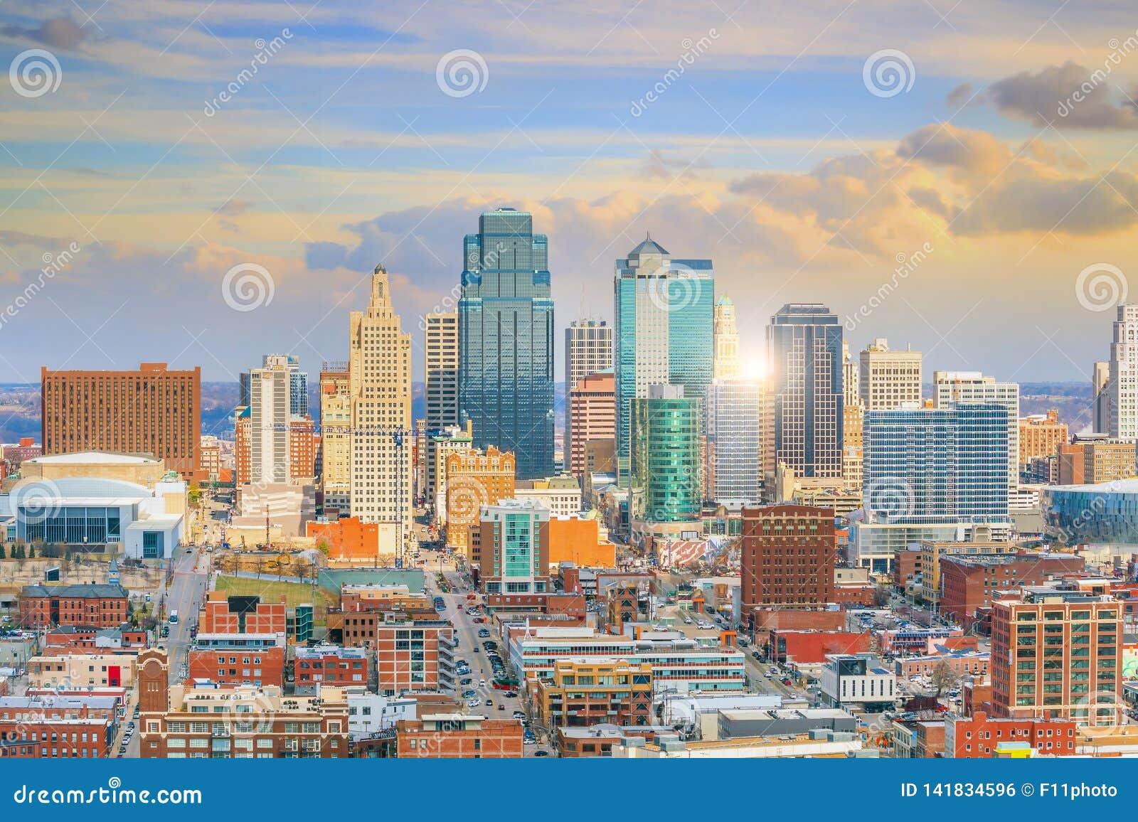 Ansicht von Kansas City-Skylinen in Missouri