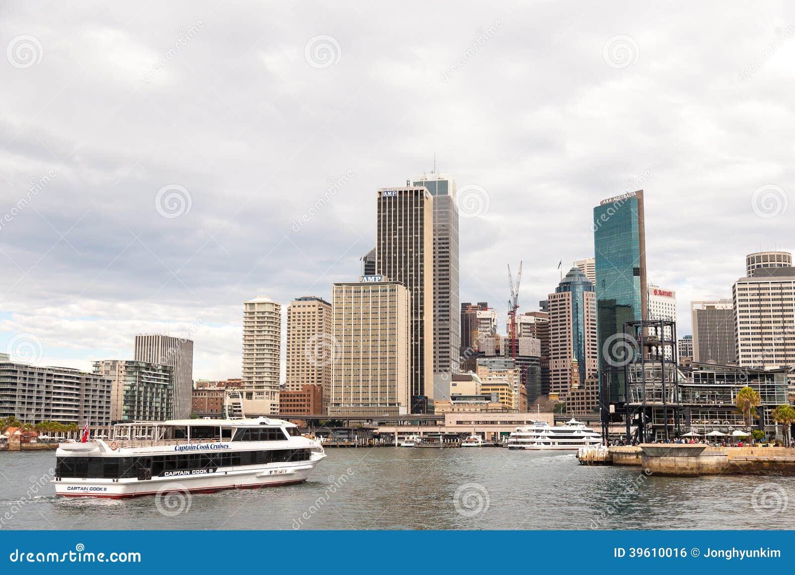 Ansicht von Kreis-Quay und von Sydney Business District Center