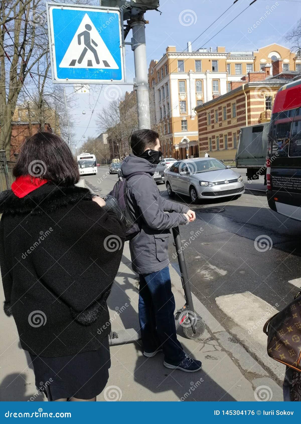Ansicht von Leuten vor einem Fußgängerübergang