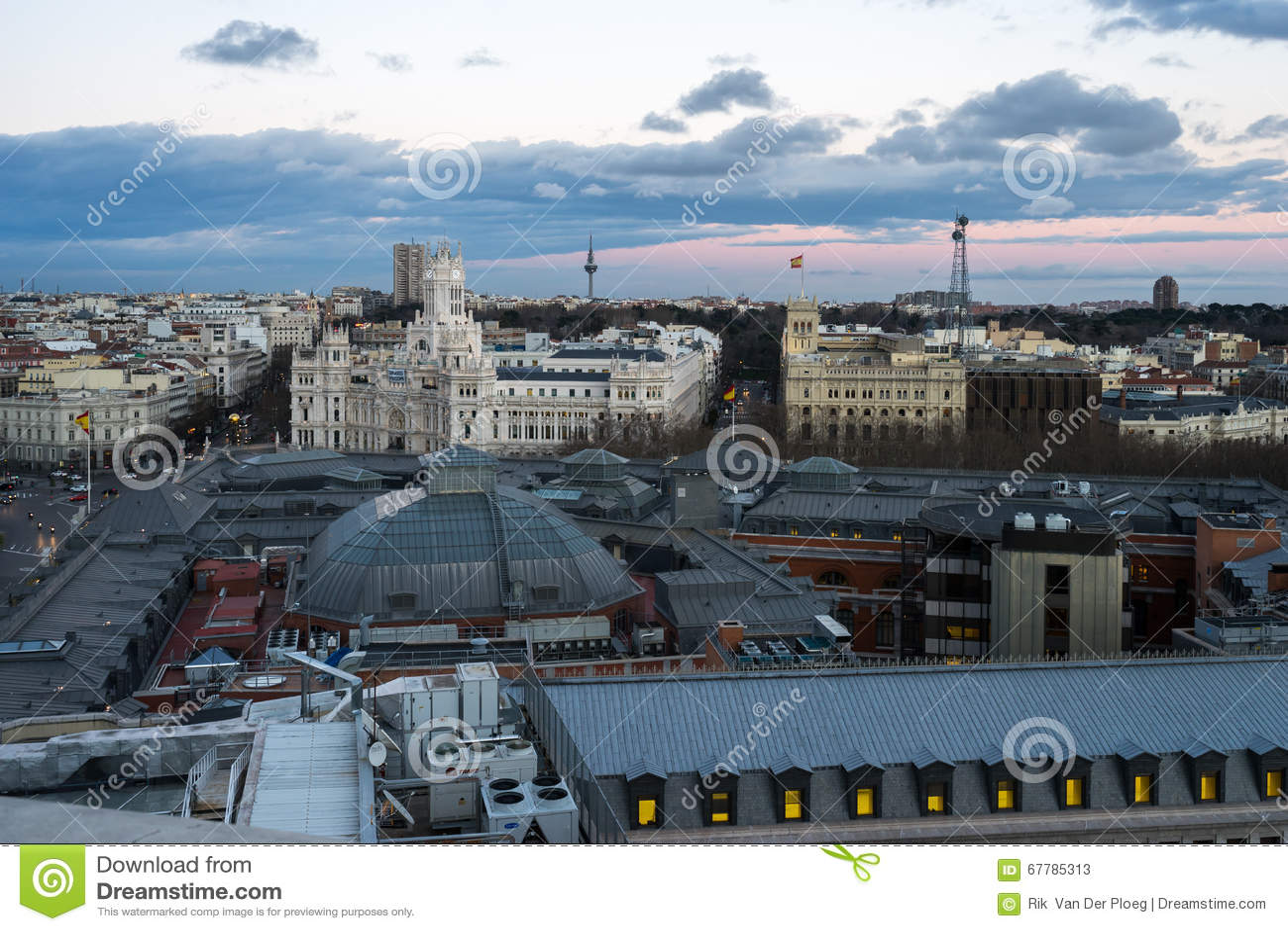 Ansicht von Madrid von artes Circulo de Bellas