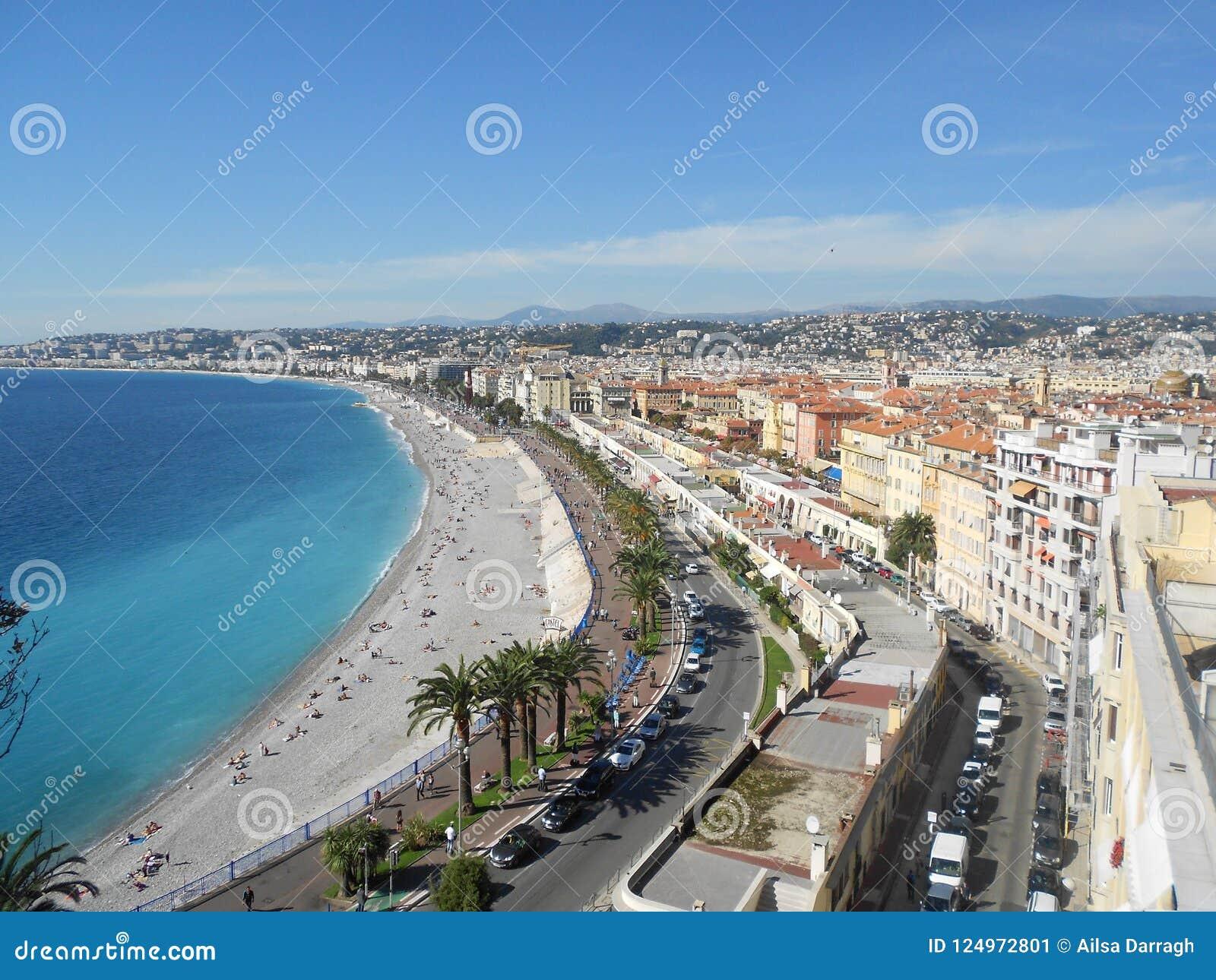 Ansicht von Nizza auf französischem Riviera