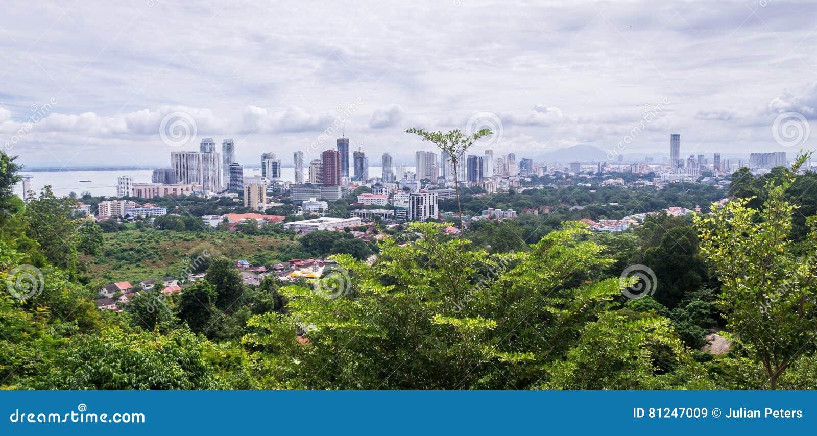 Ansicht von Penang-Hügel auf Georgetown