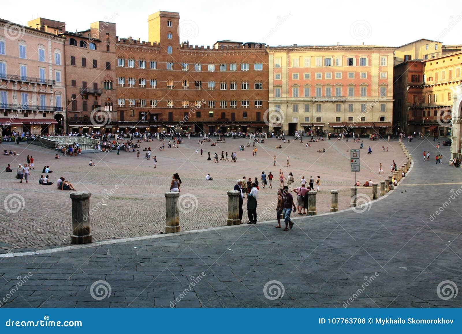 Ansicht von Piazza Del Campo