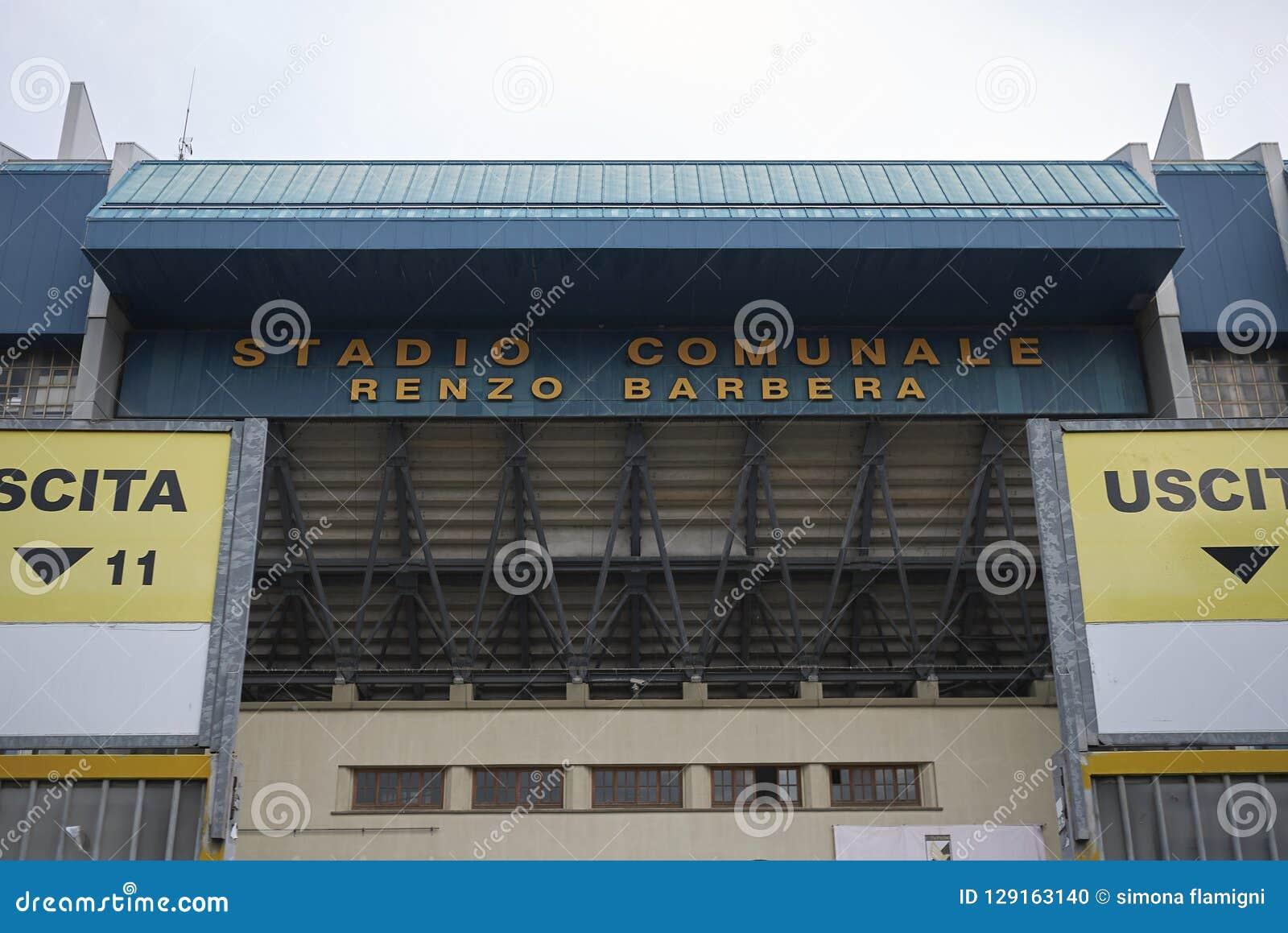 Ansicht von Renzo Barbera-Stadion