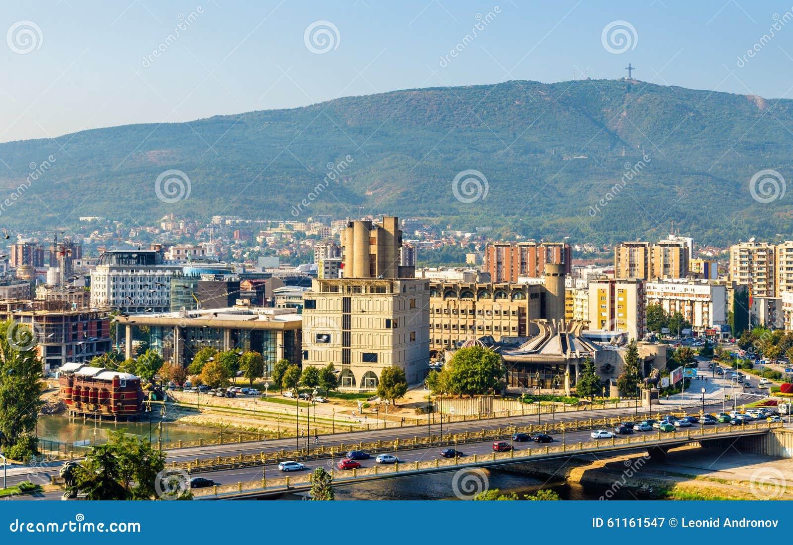 Ansicht von Skopje von der Festung