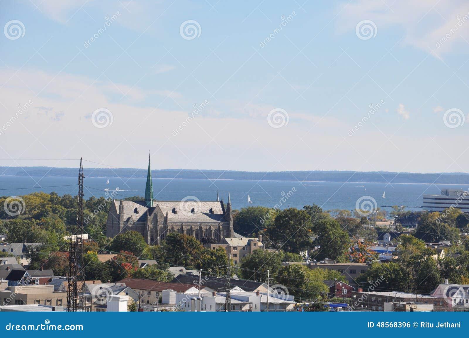 Ansicht von Stamford, Connecticut