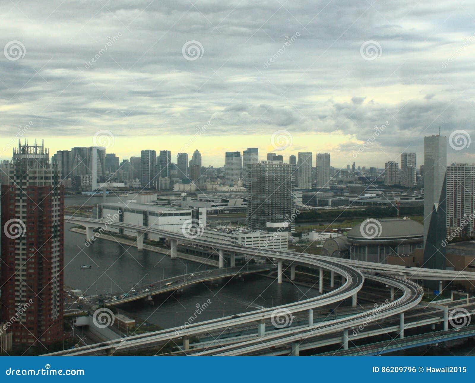 Ansicht von Tokyo-Stadt