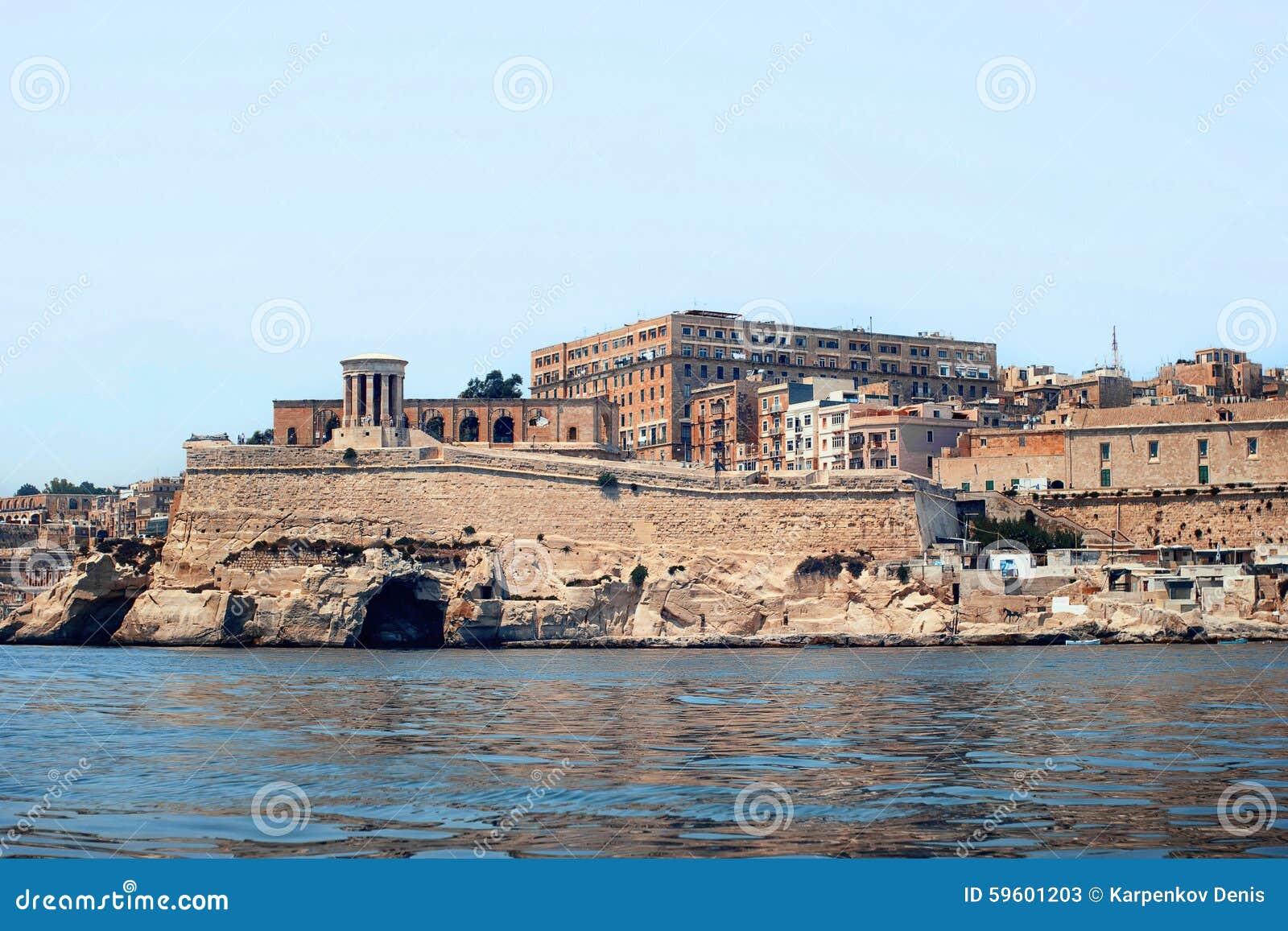 Ansicht von Valletta vom Meer