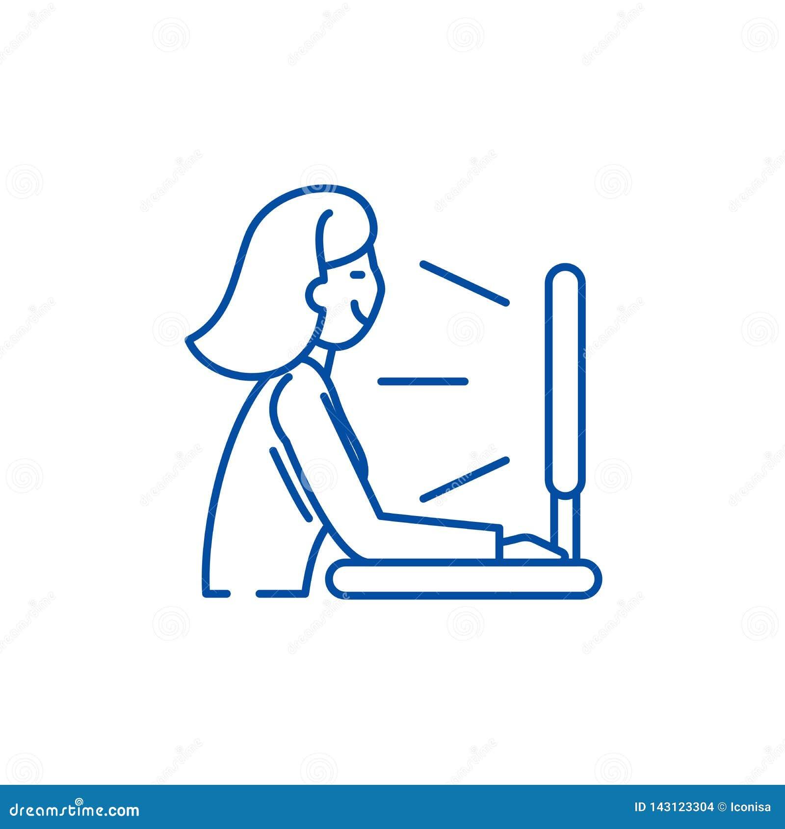 Ansichtfernsehserie zeichnet Ikonenkonzept Flaches Vektorsymbol der Ansichtfernsehserie, Zeichen, Entwurfsillustration