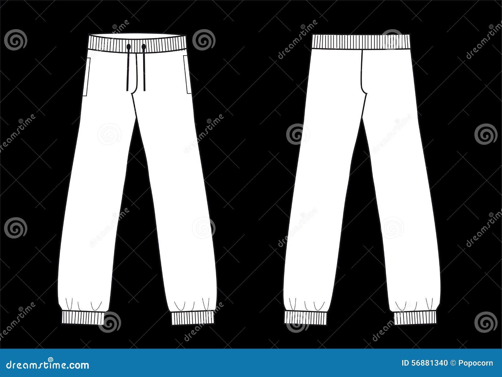 Ansima l industria della moda di schizzo dell indumento dei pantaloni