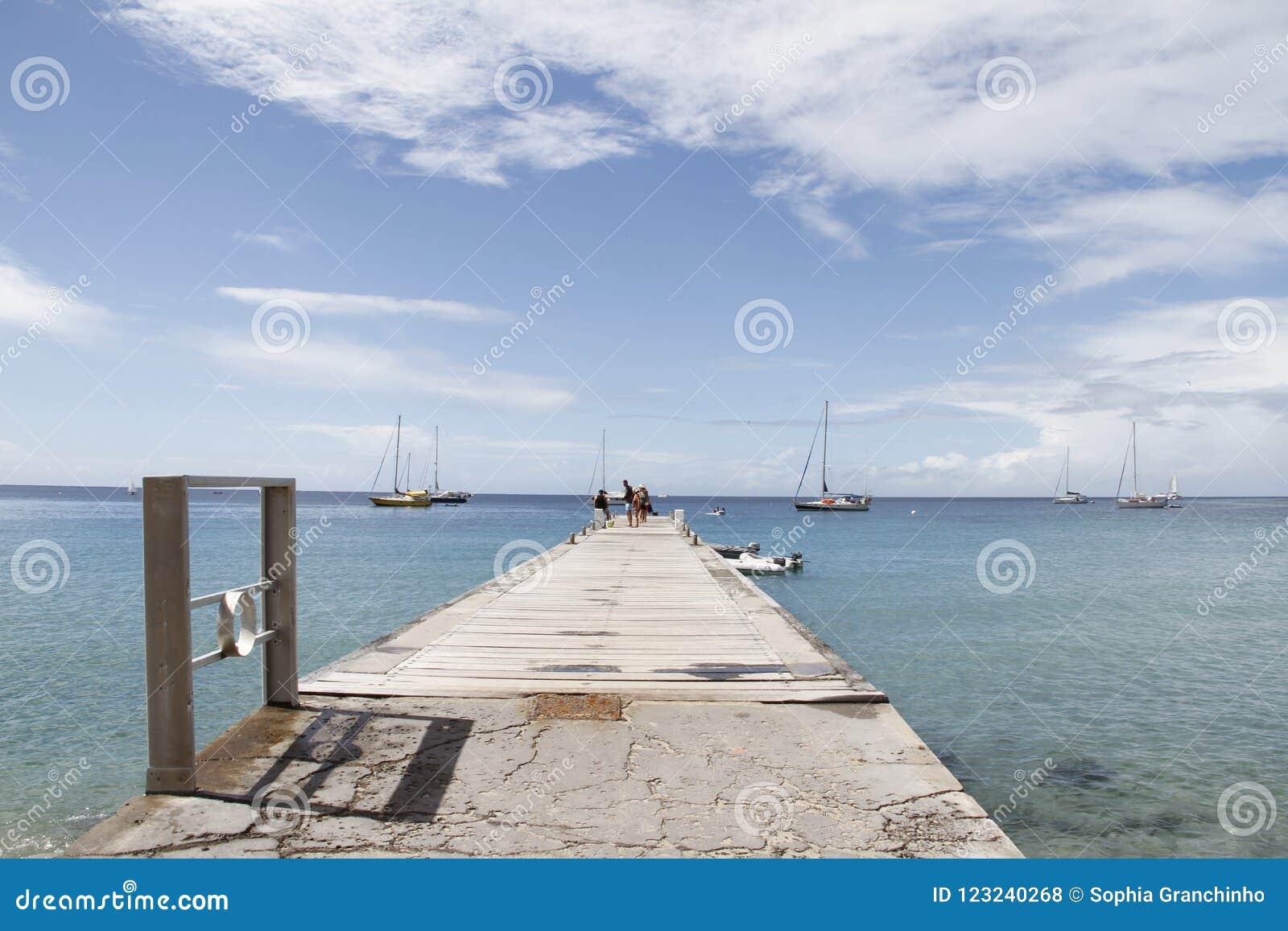 Ansluta på Les Anses D ` Arlet, storslagna Anse, Martinique franska västra Indies, Frankrike