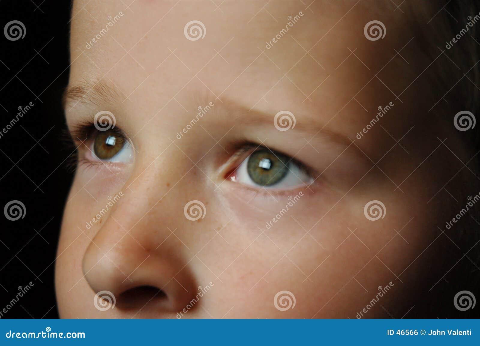 Anstarren der Augen