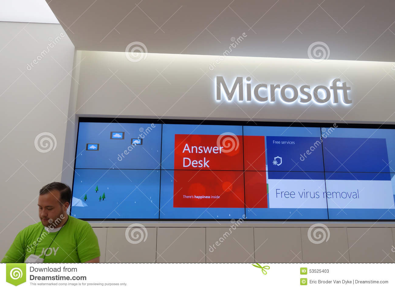 Download Answer Desk Inside Microsoft Windows Store In Honolulu At The Al  Editorial Stock Photo