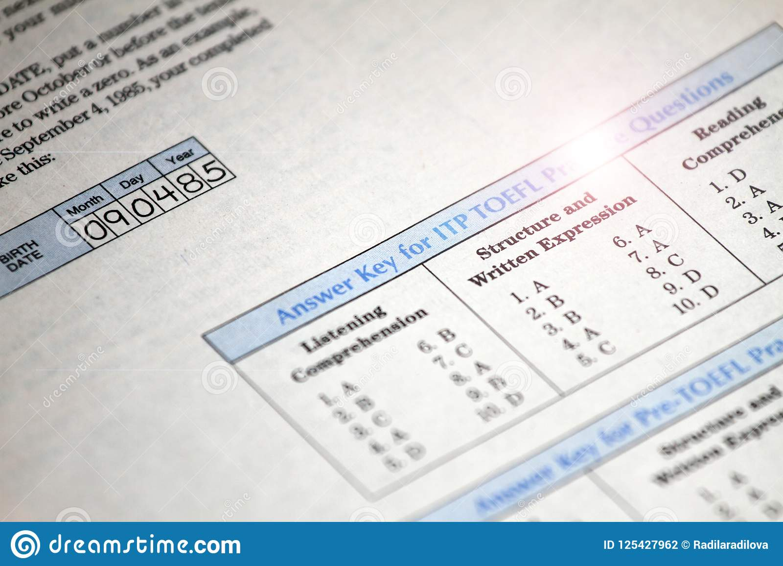 Answer Key For Test Exam College, School And University